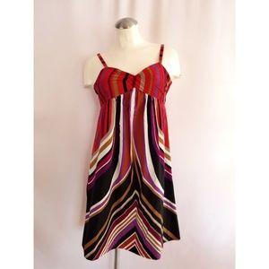Banana Republic Size 4 Silk Dress Multi-Color
